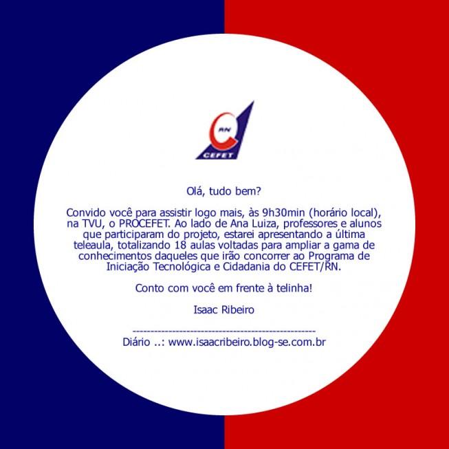 Convite para a última teleaula do PROCEFET 2006