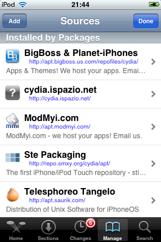 Cydia - Sources