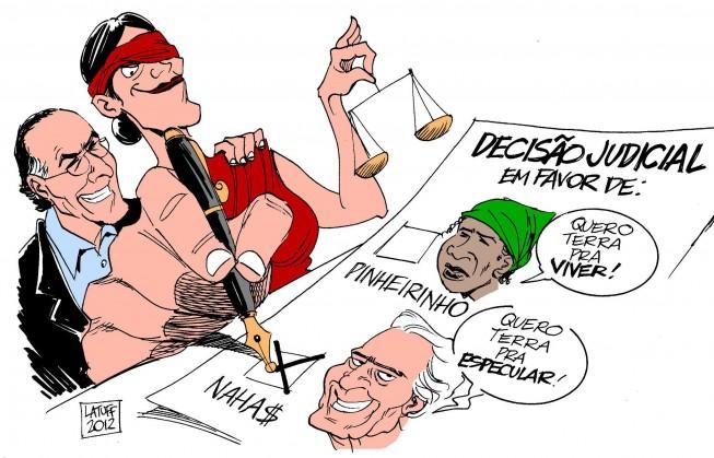 Charge - Decisão Judicial sobre Pinheirinho, por Latuff