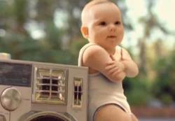 Ilustração do vídeo Evian Roller Babies