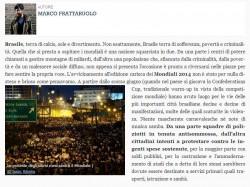 Foto de Isaac Ribeiro em reportagem da revista online Cafébabel