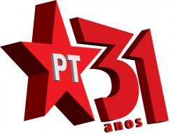 Logomarca dos 31 anos do Partido dos Trabalhadores