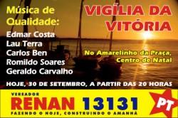 Renan Vereador 13131 - Vigília da vitória no Amarelinho da Praça