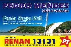 Renan Vereador 13131 - Pedro Mendes no Ponta Negra Mall