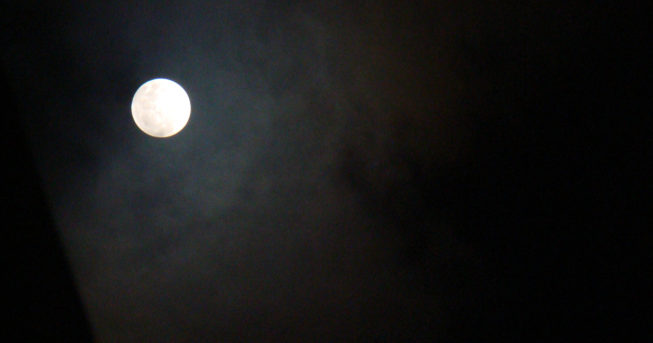 Superlua do dia 27/09/2015 (Foto: Isaac Ribeiro)